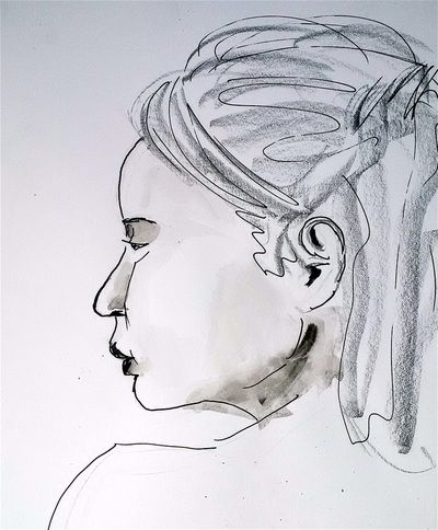Life drawings from our members and news from our group - Simply Drawing    Drawing by Anna du Bois
