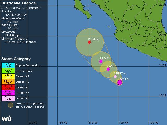 Hurricane Blanca Tracking Map Weather Underground Hurricanes - Weather underground map