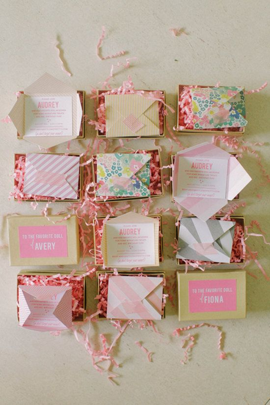 The Cutest Mini Invitations From Style Me Pretty's American Girl Birthday Party
