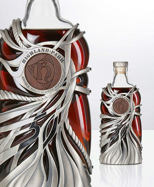 Highland Park whisky. Don't you desire to pick this up & touch?  Intriguing.