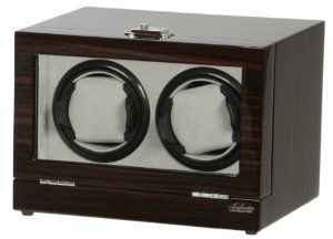 Double Watch Winder Wood w/LCD Dispaly Belocia. $149.95. Piano finish with multi layers of polyurethane.. 5 timer settings 650, 900, 1200, 1500 and 1800 TPD (Turn Per Day).. Two turntables each one can be set to different settings. Rotates clockwise, counter-clockwise or alternate.. Save 25% Off!