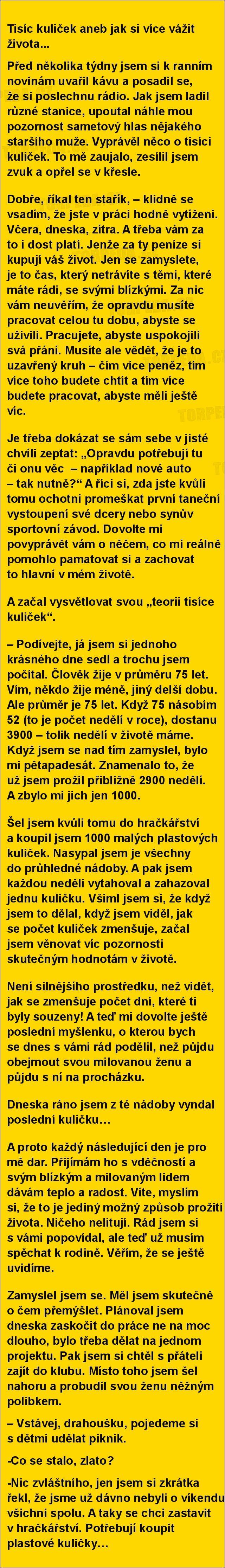 Tisíc kuliček aneb jak si více vážit života... | torpeda.cz - vtipné obrázky, vtipy a videa
