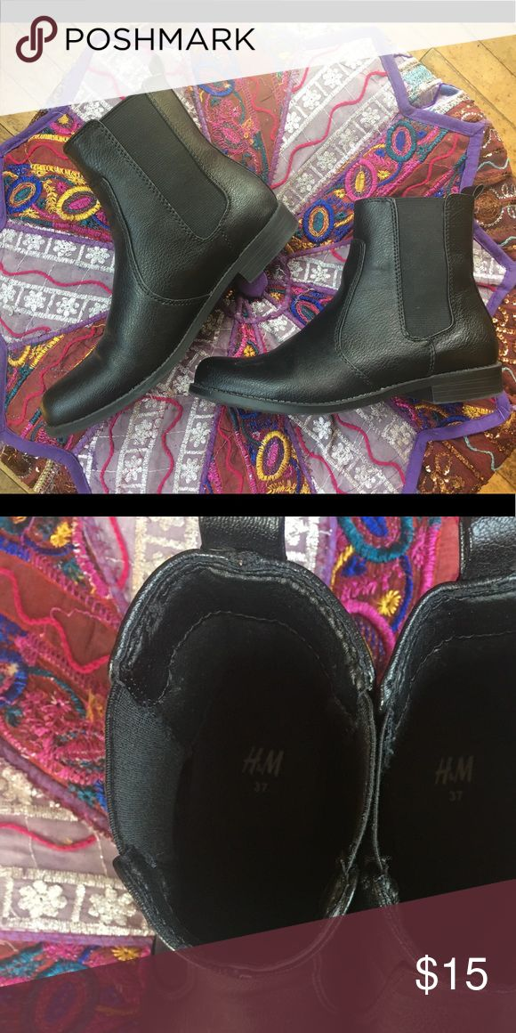 H&M Chelsea Boots H&M black Chelsea boots. Minor scuffing on front of boot, but selling cheap! H&M Shoes Ankle Boots & Booties
