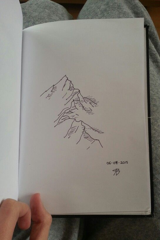 Mountain Sketch Fineliner Art Drawings From Sketchbook
