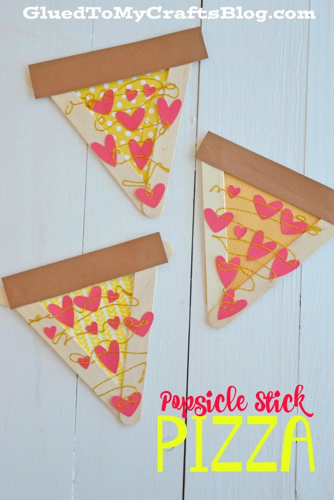 Popsicle Stick Pizza - Kid Craft