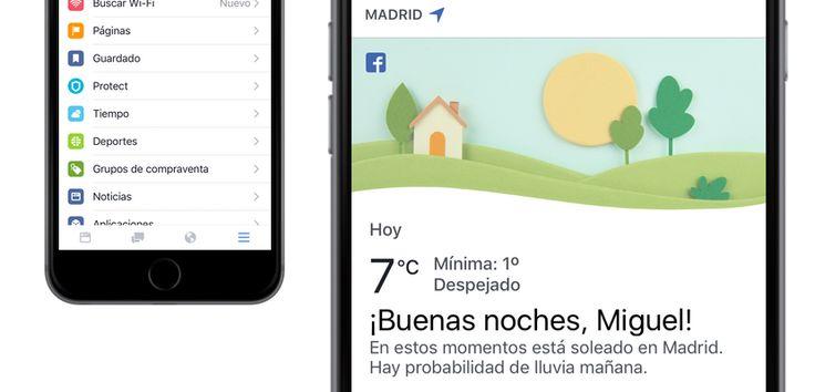 Ahora puedes ver el tiempo en la aplicación de Facebook - http://www.actualidadiphone.com/ahora-puedes-ver-tiempo-la-aplicacion-facebook/