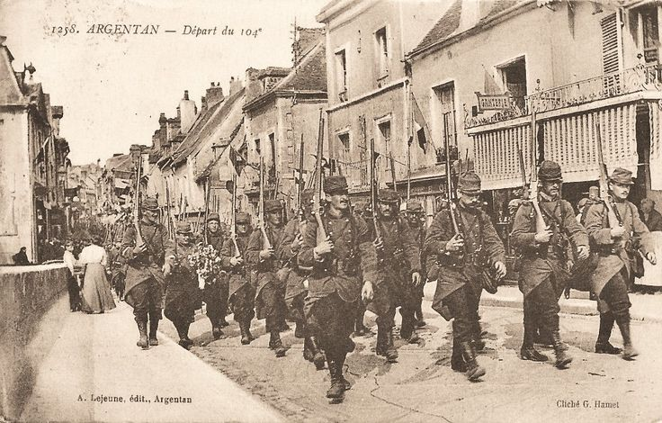 Departure of the 104 from Argentan, WW1, premiere guerre mondiale, Orne, Normandy