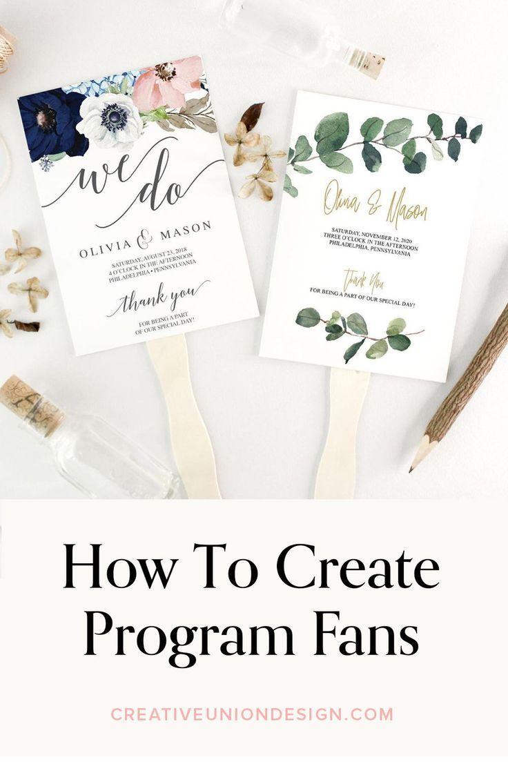 How To Create Wedding Program Fans Watch Diy Video On How To Create Wedding Programs Diy Wedding Programs Wedding Program Fans Fun Wedding Programs