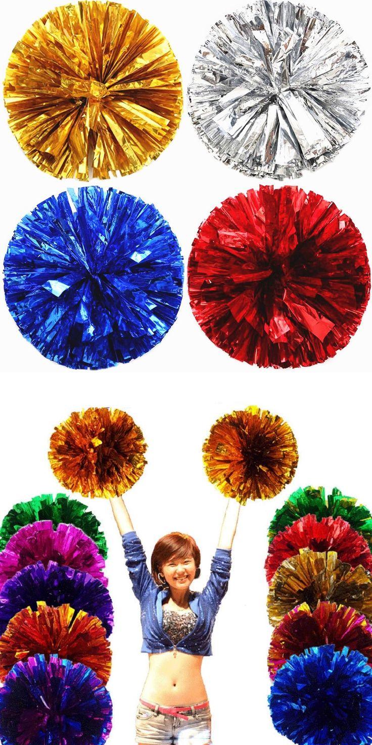 Game Cheerleader Cheerleading pom poms Cheerleading pompoms cheer pom majorettes hand flower aerobics balls sports items 70g