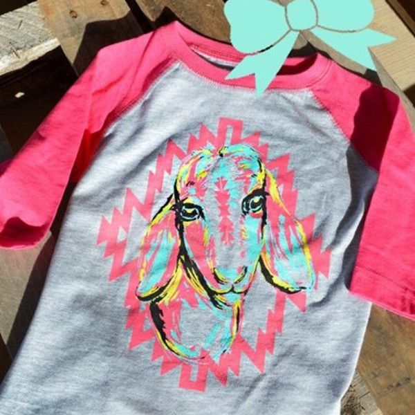 Kids Pink Goat Shirt – A Blessed Boutique