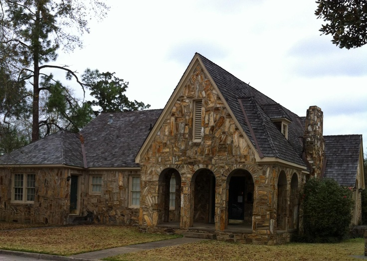 Jasper, Texas. This is a house built from native to the area petrified wood. It was built around 1900. It was owned by a man named Doc Rhodes. He made a fortune in timber around Jasper and later was an oilman in the area.