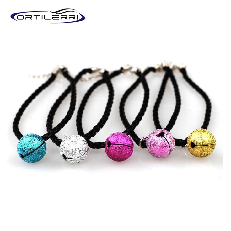 Ortilerri Fashion Scrub The Bell Collar Pet Dog Collar Small Puppy Necklace With Bell For Chihuahua Length 30cm Pet Supplies