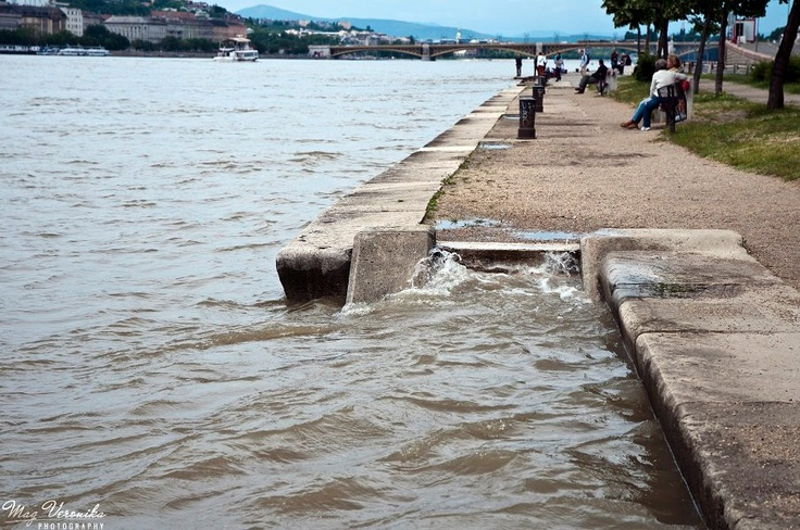 Danube hitting the shore #budapest #flood