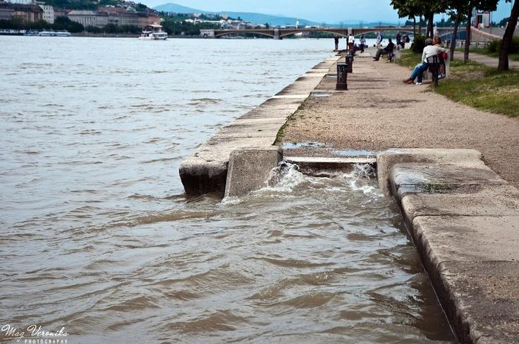 Danube hitting the shore #budapest #flood