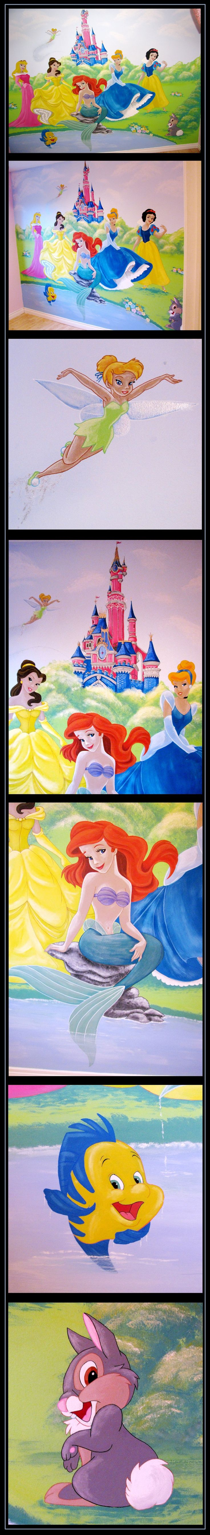 25 best ideas about princess mural on pinterest castle for Disney princess ballroom mural