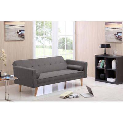 Hopsack Fabric Wooden Frame Sofa Bed