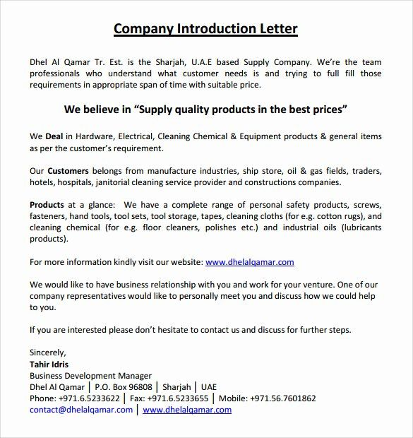 Sample Business Introduction Letter 9 Free Documents In Pdf Word Introduction Letter Business Letter Sample Business Letter Example