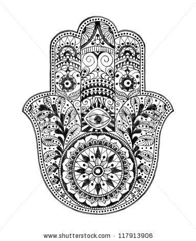 Hamsa Hand (Hand Drawn) by SPYDER, via ShutterStock