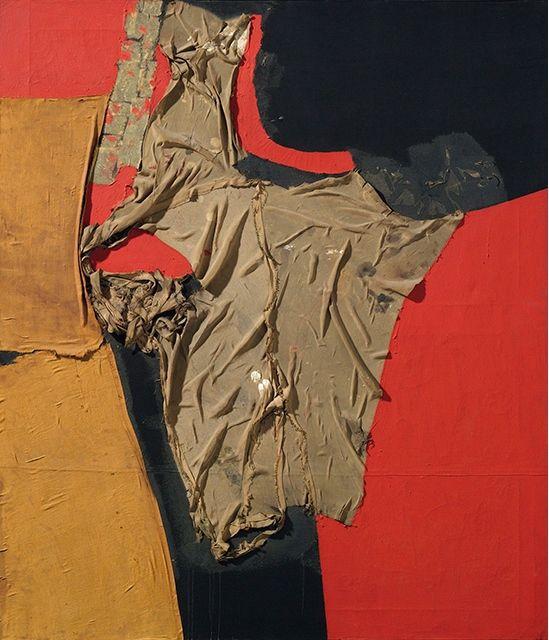 Alberto Burri, Rosso Nero. Estimate: £1,500,000 – 2,000,000. Photo: Christie's Images Ltd 2014