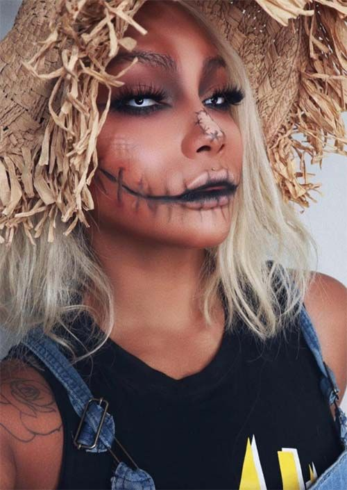 Halloween Makeup Ideas 2019 Scary.51 Creepy And Cool Halloween Makeup Ideas To Try In 2019