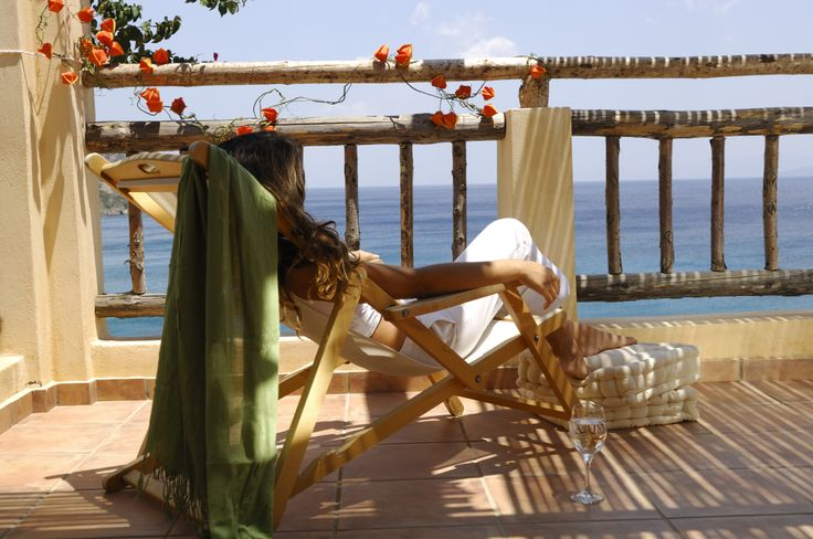 Relax by the sea admiring the blue color of the sky... #Crete #CandiaPark