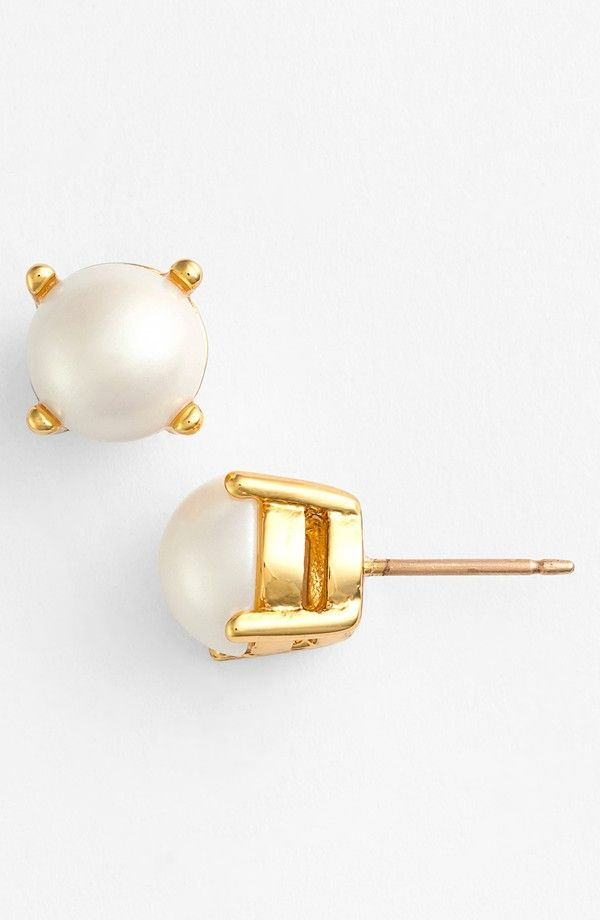 kate spade new york   'cueva rosa' faux pearl stud earrings