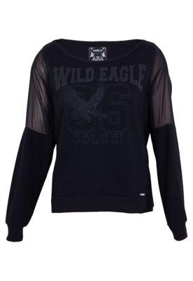 Blusa Moletom Colcci Wild Eagle Preta