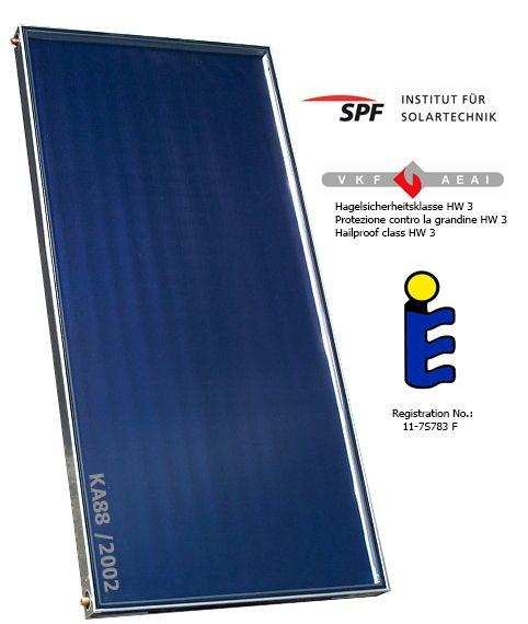 Solar Wallnofer zeer hoog rendement - in dak montage - zonneboilers - vlakke panelen - www.eco2all.nl