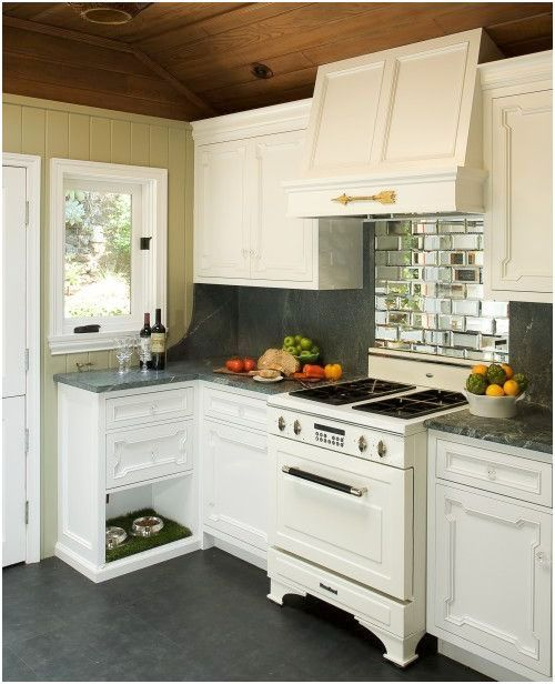 Dog area in kitchen dog bowl area designs and ideas for Super small kitchen ideas