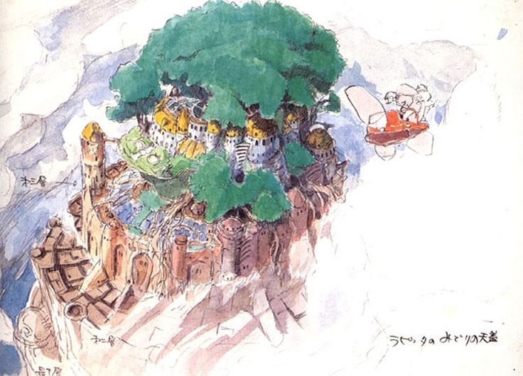 """Castle in the Sky 天空の城ラピュタ"" by 宮崎 駿 Hayao Miyazaki* 