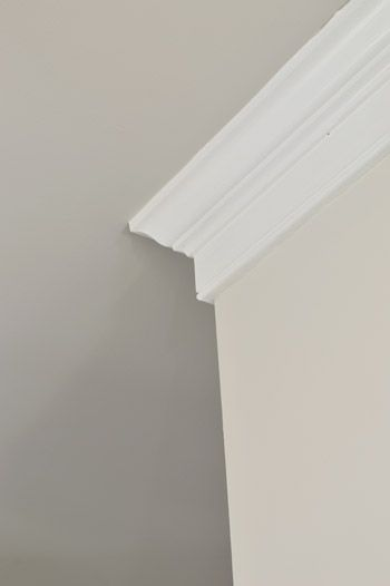 Benjamin Moore Edgecomb Gray Walls and Revere Pewter ceiling | Young House Love