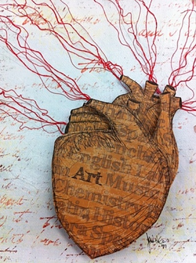 .: Prints Art, Anatomical Heartsmost, He Art, Jennifer Korsen, Paper Heart, Heart Art, My Heart, Korsen Paper, Anatomical Heart Most