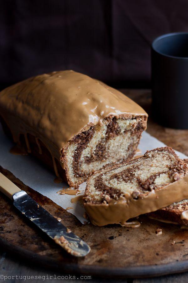 mocha swirl bread with espresso glaze
