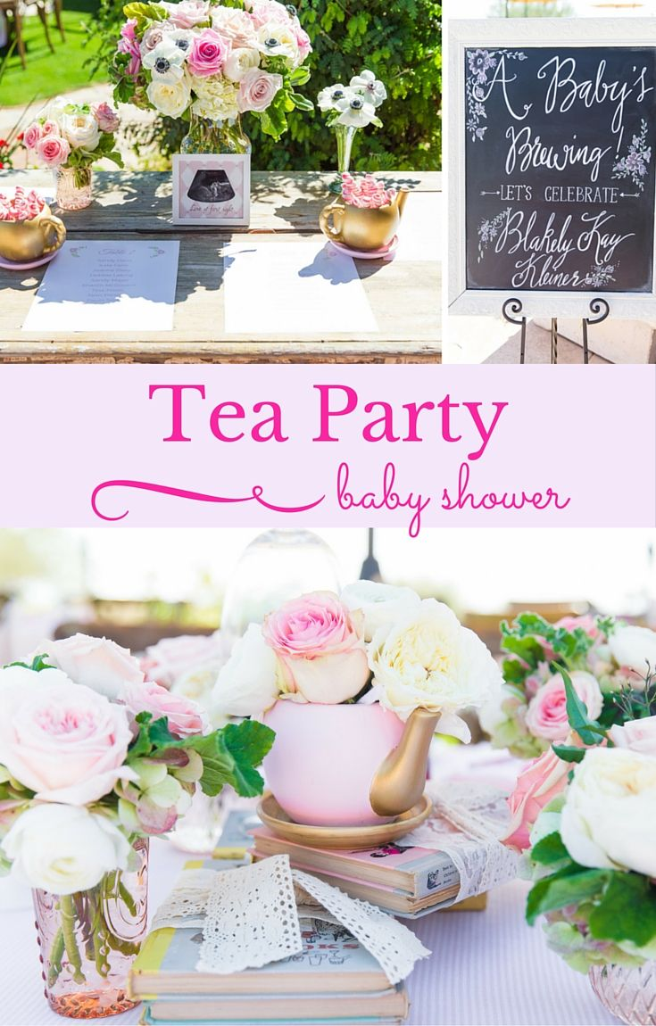 Celebrate the newest little member of the family with a beautiful vintage tea party-inspired baby shower! See how Kaelin put together a sweet celebration full of games, flowers, DIYs and food for her sister and expected daughter. #babyshower