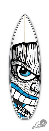 Mister Escobar surf art, surfboard painter and designer, ilustracion en tablas de surf, mexico guadalajara surf arte, Carlos Escobar arte