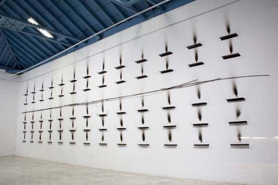 Jannis Kounellis, Senza Titolo, 2016, 11.5 x 2.5 m. Habana, 2016. Photo: Paola Martinez Fiterre