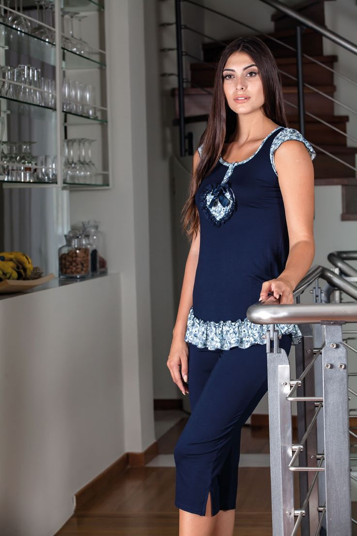 Claire Katrania Homewear με Κάπρι Τύπος C-8916 (+ μεγάλα μεγέθη) – Tartora.gr
