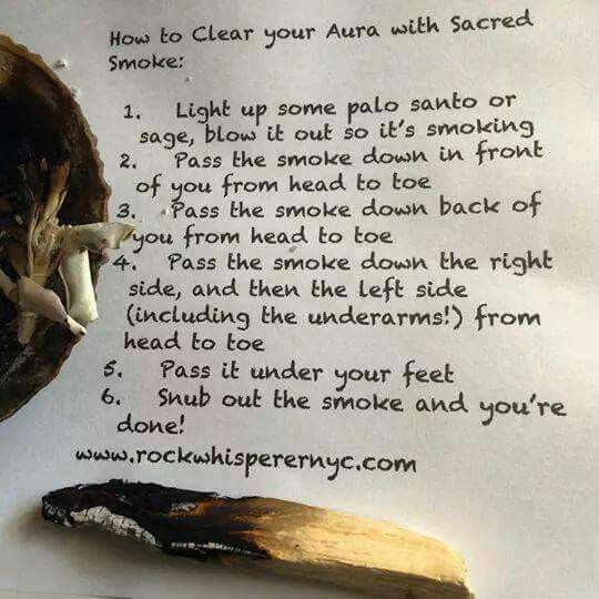 How to clear your Aura with sacred smoke. Palo Santo.