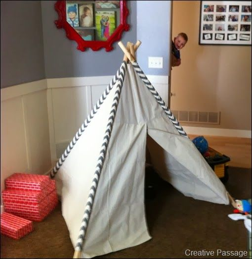 easy tutorial for kids teepee with tips to make it cheaper