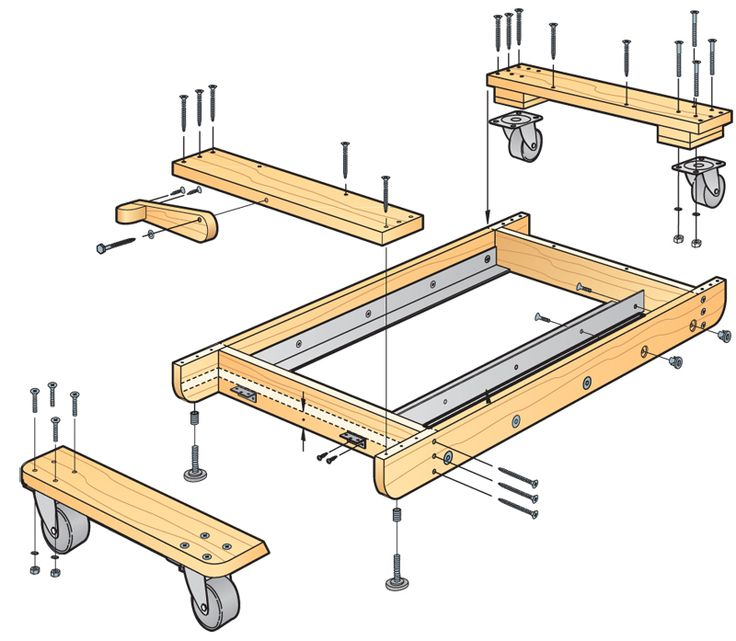Table Saw Mobile Base Plans - WoodWorking Projects & Plans