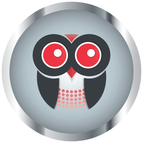 Red Owl Creations logo for web and social media use. Design by Pixelution