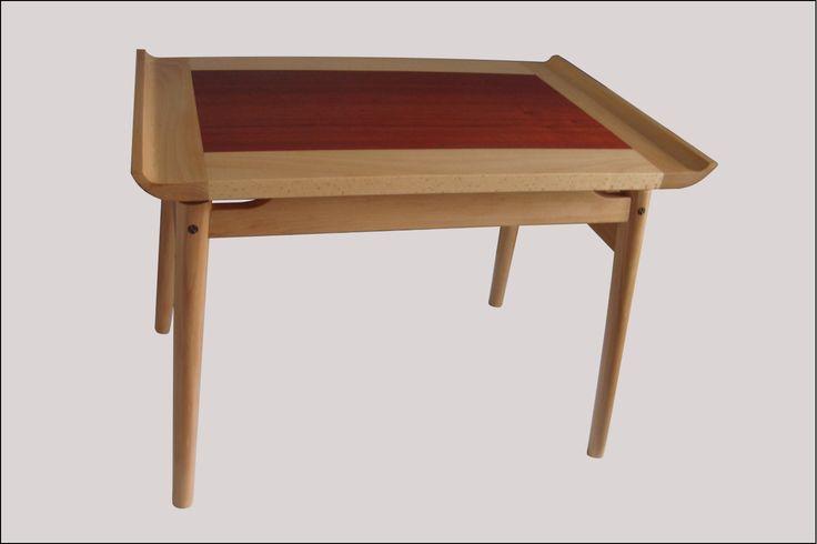 Beech and Padauk coffee table.
