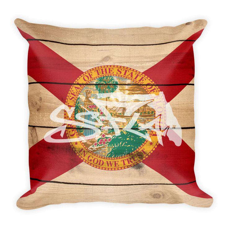 So-Fla State Flag Square Pillow
