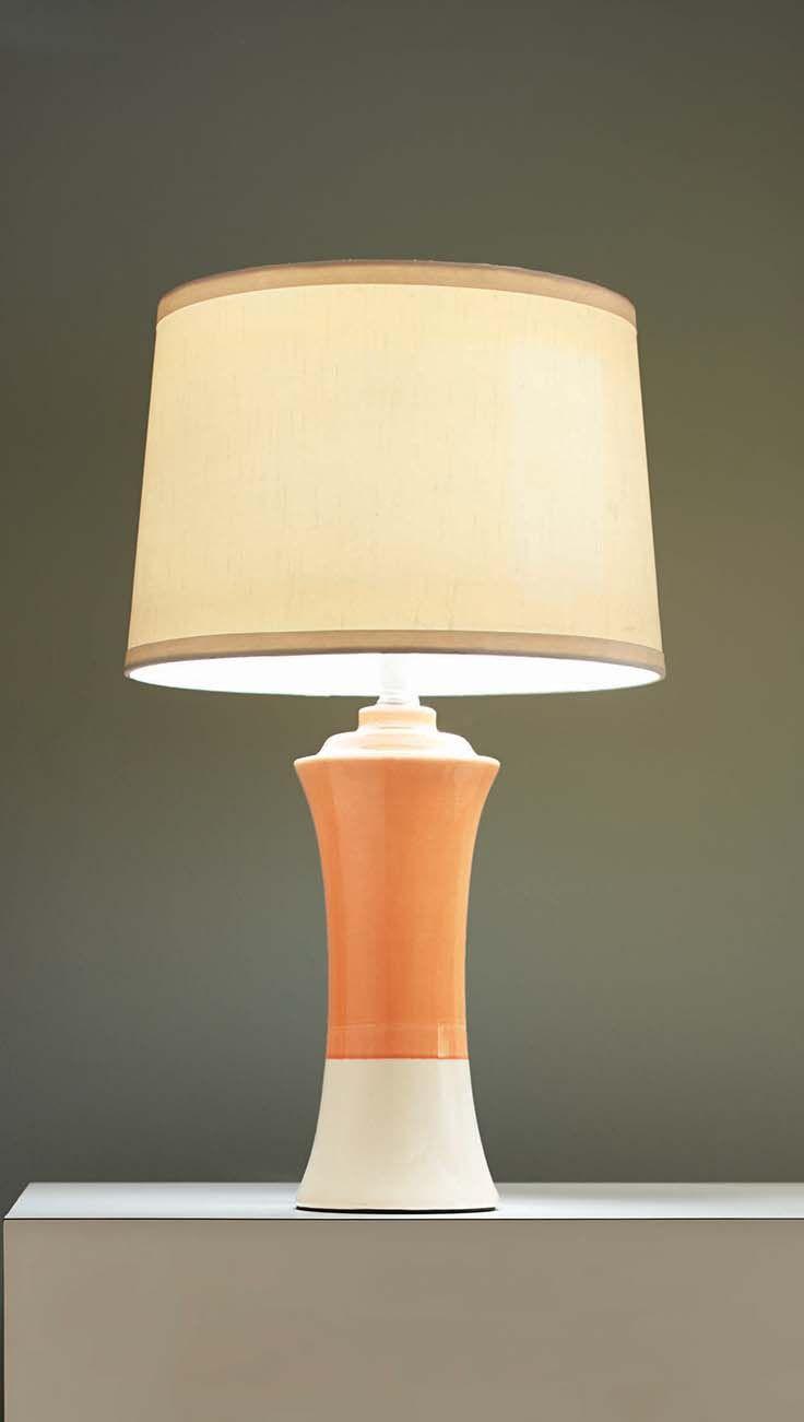 Better Homes and Gardens Ceramic Lamp Base in Orange