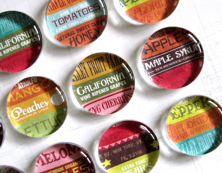 May I have these for my birthday, please?: Crafts Ideas, Marketing Magnets, Marketing Glasses, Magnets Sets, Farmers Marketing, Glass Magnets, My Birthday, Farmers' Market, Glasses Magnets