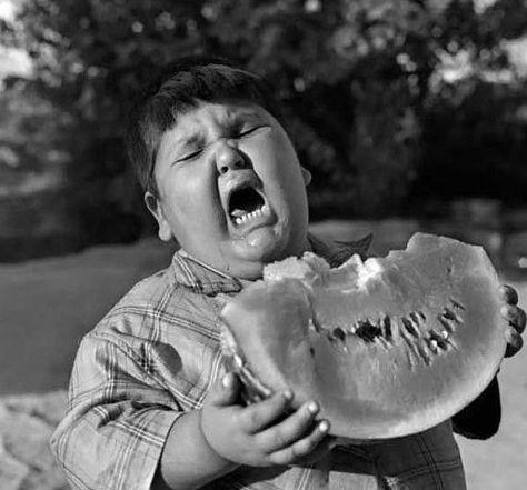 I said I wanted a big piece of watermelon!