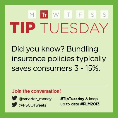 """""""Bundling insurance policies typically saves consumers 3 - 15%."""" - Financial Services Commission of Ontario (FSCO)"""