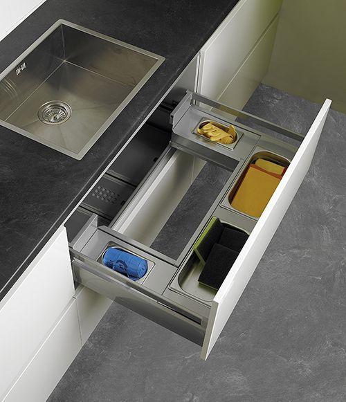 sugestão para guardar utensílios de limpeza. #cozinha #armário