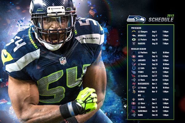 seattle seahawks schedule 2013 | Four Primetime Games and Five 2012 Playoff Teams Highlight 2013 Season