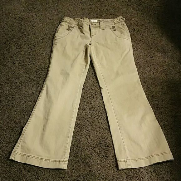 Maurices khaki pants Size 9/10 waist. Inseam 30 1/2. Open to any reasonable offers! :-) Maurices Pants Boot Cut & Flare